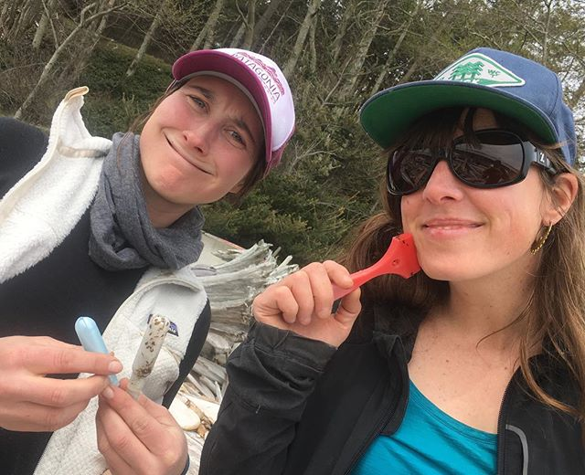 A brief send out to @alyssa.stapleton and @abbymc4362 for your profound work and mentor ship with @coastmountainacademy (And @leapcanada !) It's great to have you on the team. Photo taken at Harwood Island #marinedebris cleanup.