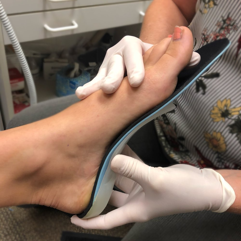 Custom Orthotics - We are proud to offer top of the line custom orthotics. Custom orthotics can be used to treat a variety of painful symptoms. In addition, custom orthotics can be used as a preventative tool for a variety of problems.