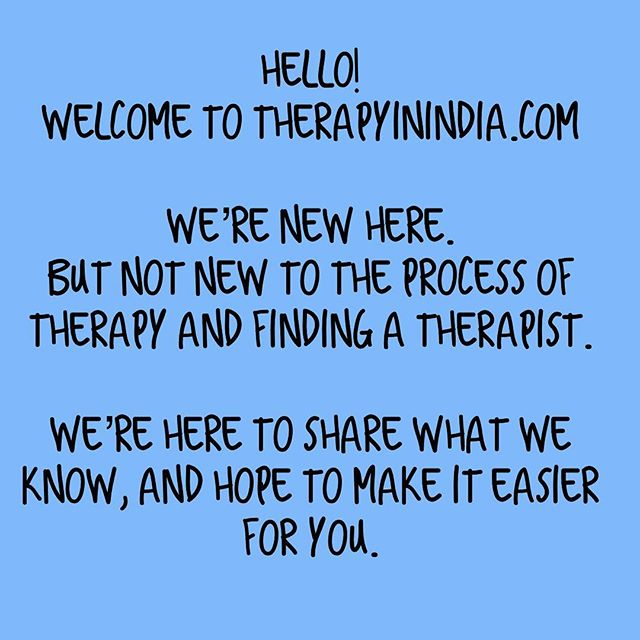 Hello! Check out our website for more information on therapy, to find a therapist in India, and to read about real experiences of therapy. . Follow us here for more! . #therapyinindia #therapy #mentalhealth