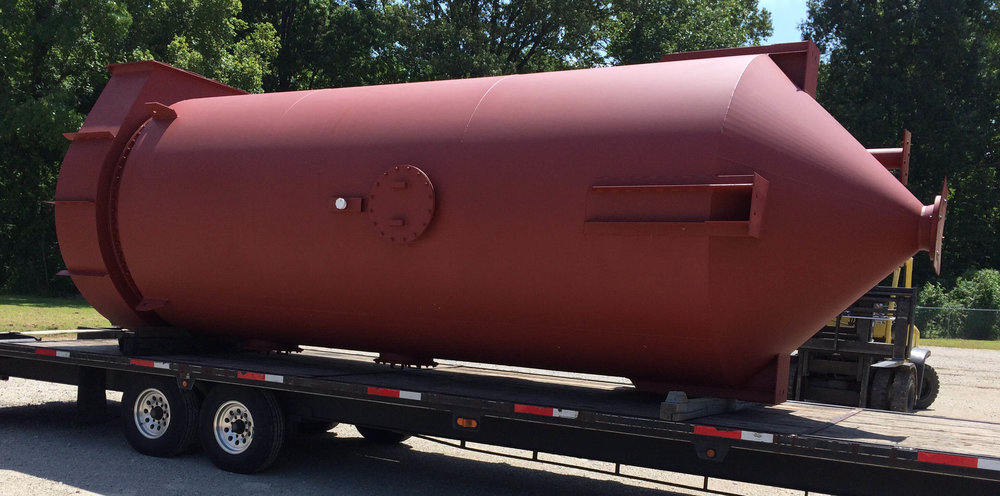 Custom Steel Fabricated Unit Awaiting Shipment