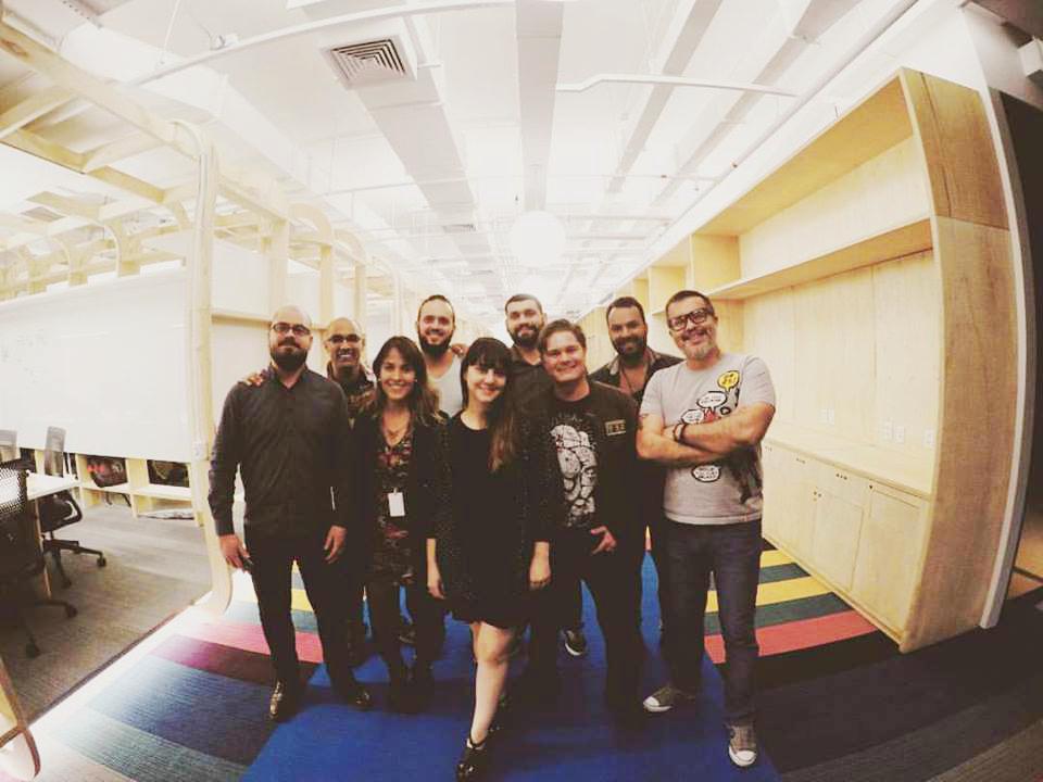 First UX team in São Paulo : Clóves Cardoso, Beto Lima, Livia Holanda, Bruno Capella, Suzi Sarmento, Aurélio Jota, Frank Abreu, Cesário Monteiro, Bruno Gaspar.