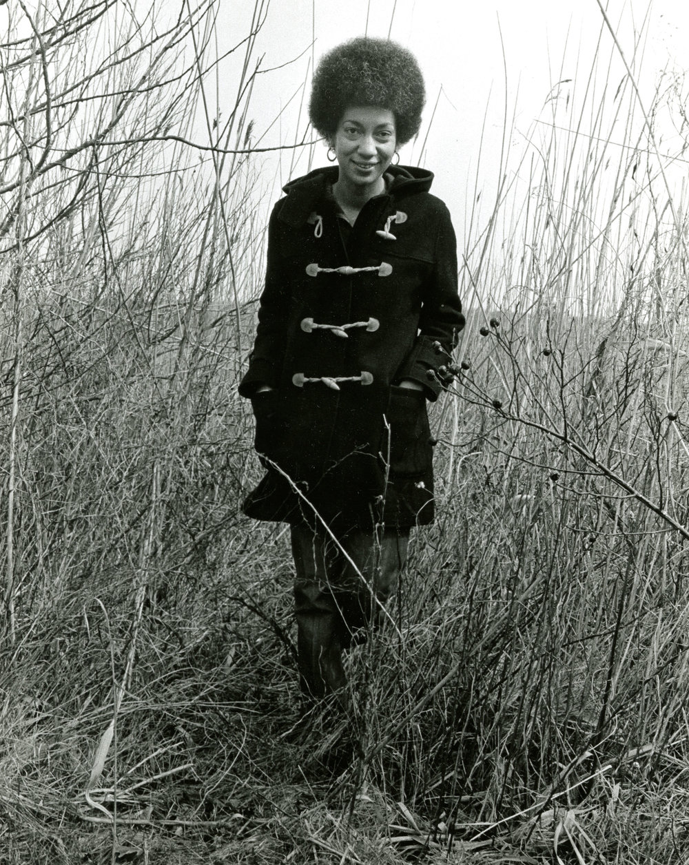 ca.1968. Photo possibly by Louise Bernikow. June Jordan Papers, Schlesinger Library,  Radcliffe Institute