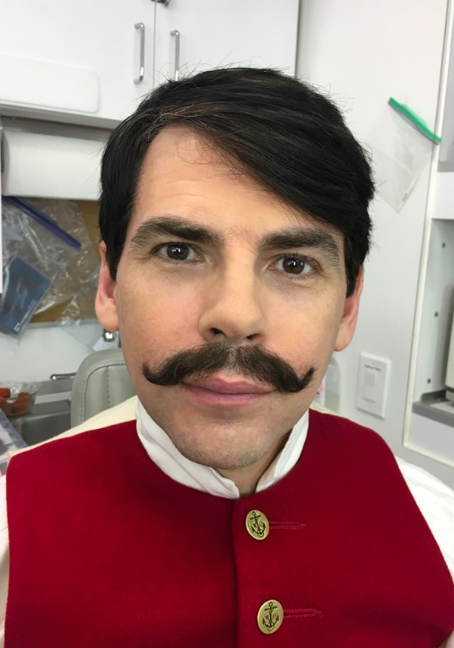 Lace Mustache by John Blake