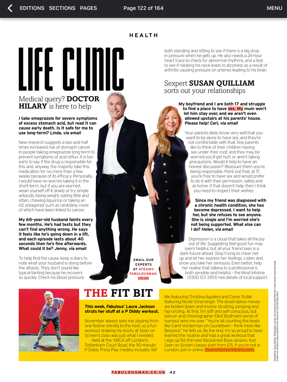 Fabulous Magazine 12th November 2017 Coverage 1.PNG