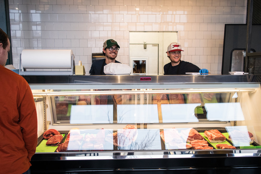 Wesley Adams & Patrick Davidson, co-owners of Bare Bones Butcher | Photo by Maddie Teren.