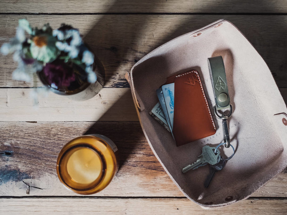 Arch and Bevel is a hand crafted, small batch, one of a kind leather shop based in Nashville.