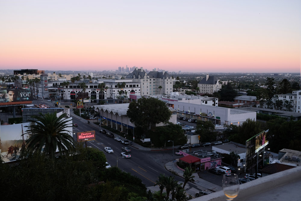 View from our balcony at Chateau Marmont
