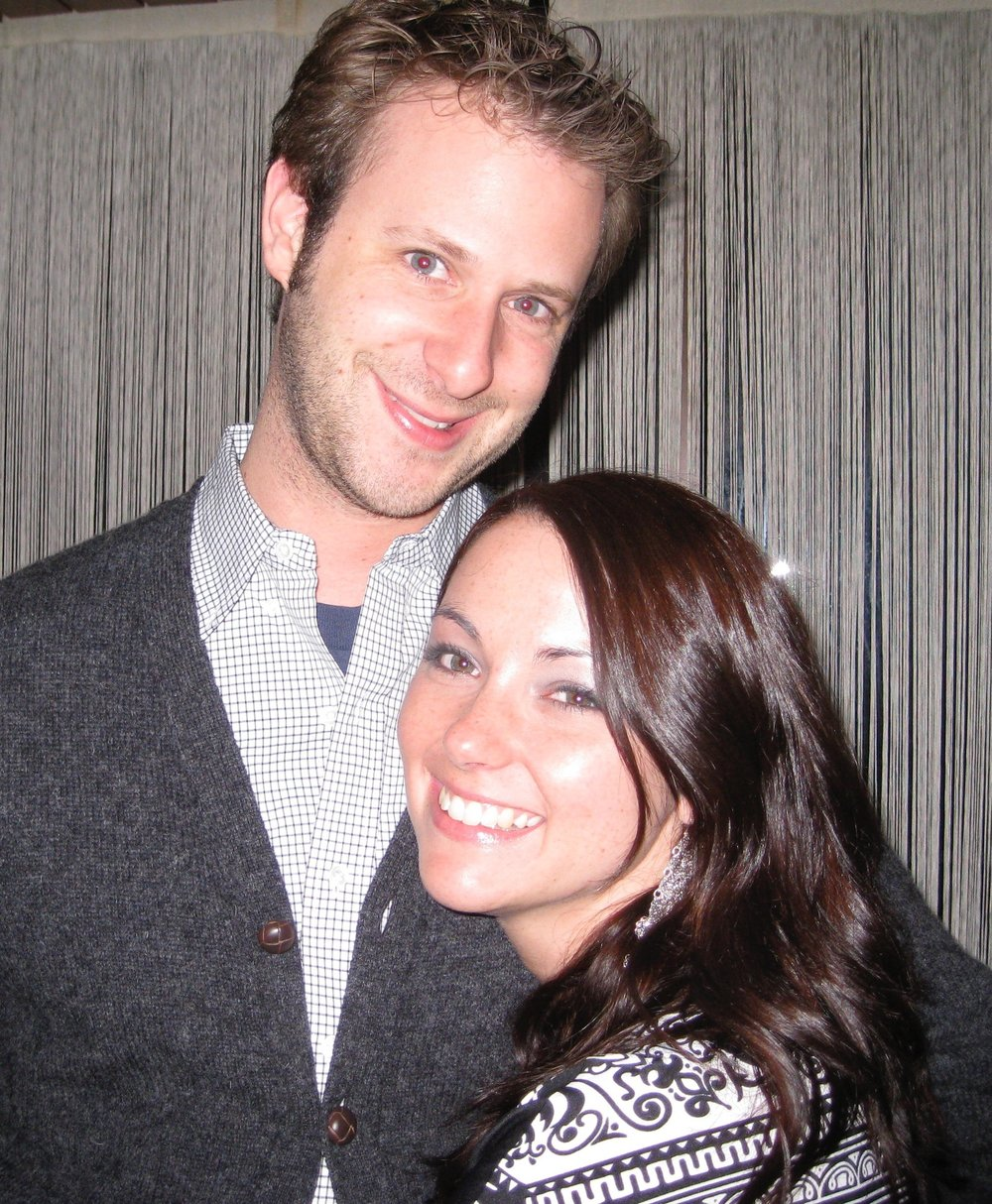 The early days….circa 2008, about a year after we started dating. We were at Layl'a Rul, anyone remember that place????