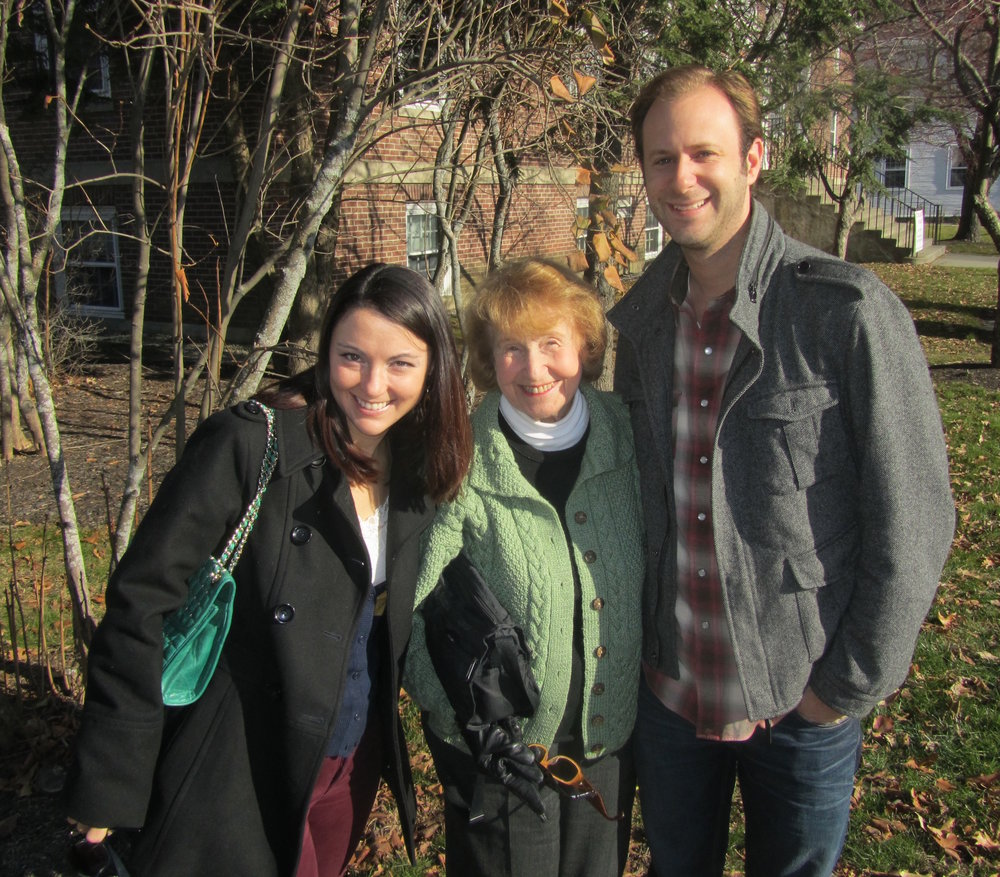 Here we are in 2012 visiting Benjamin's Nana in New Hampshire. She was OBSESSED with how much weight I gained when I was pregnant with Vivian.