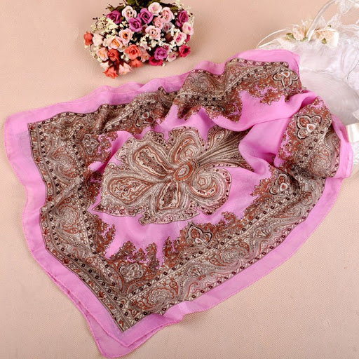Pink Scarf - $16.50