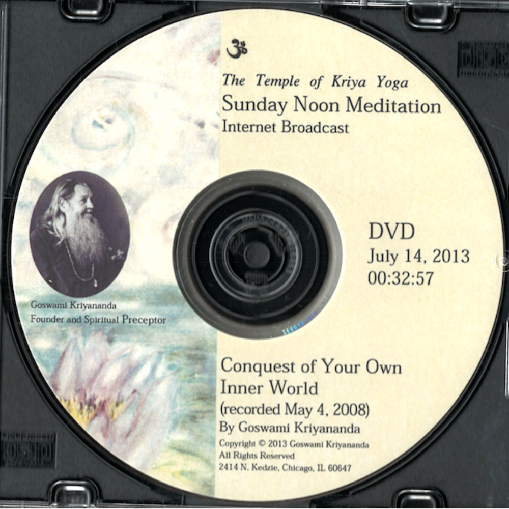Conquest of Your Own Inner World (DVD) - $7