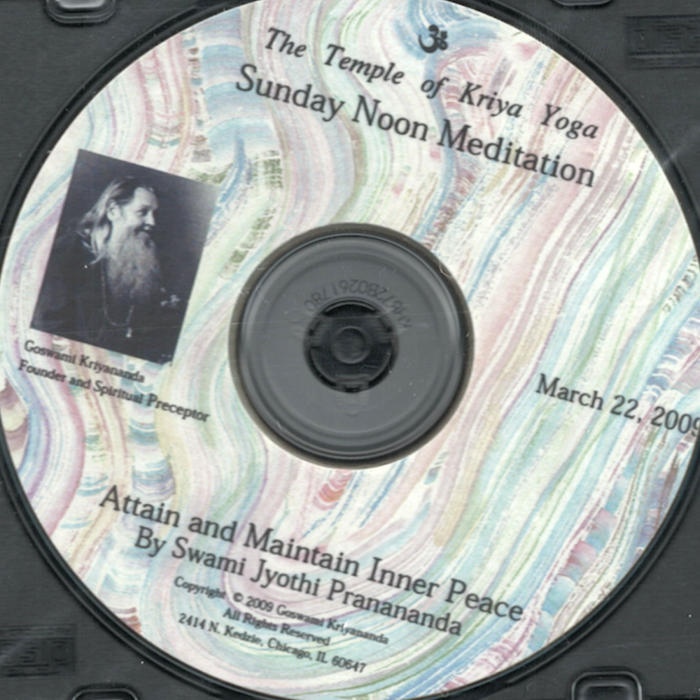Attain and Maintain Inner Peace CD - $5