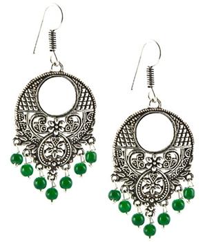 Green Bead Earrings - $9.87
