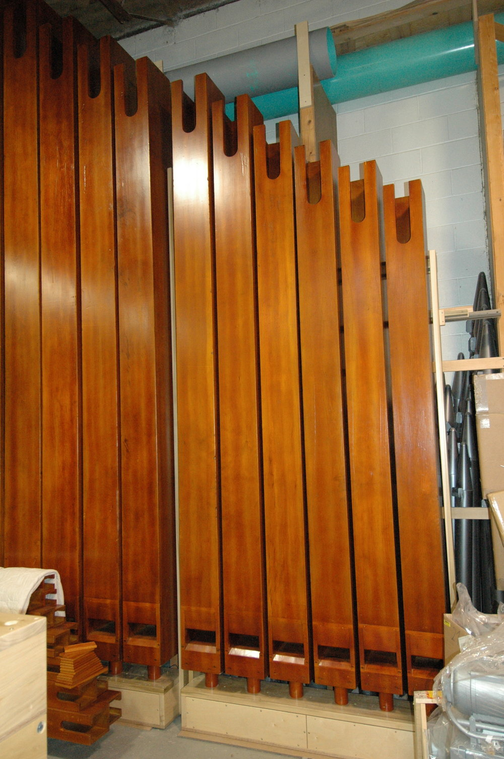 Open Wood organ pipes