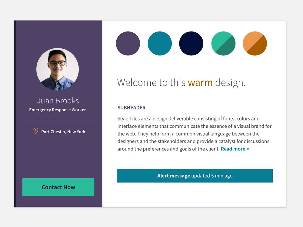 """Style Tile for Redesign 