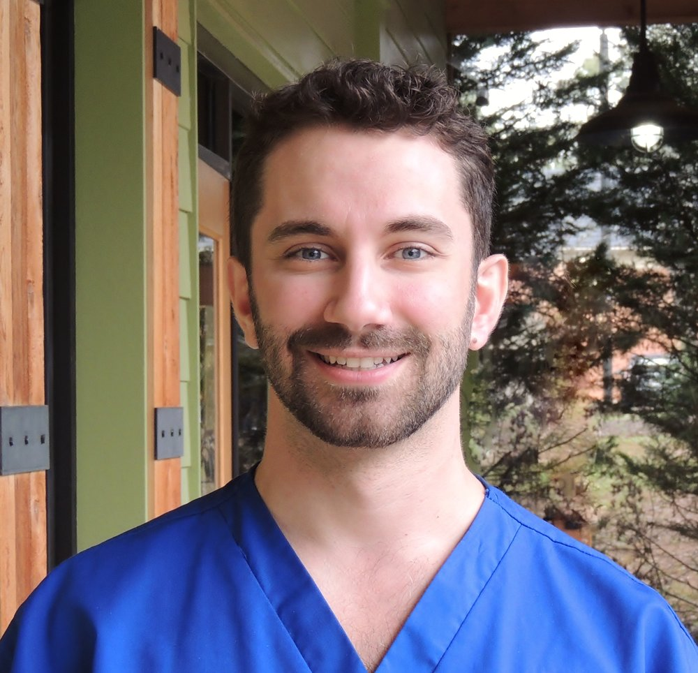 "Dr. Anthony Rella - A Cherokee County native, Dr. Rella completed advanced dental training during his residency program at Rochester General Hospital in Rochester N.Y. During his free time Dr. Rella enjoys hiking, spending time with friends, family and his canine companion ""Jethro""."