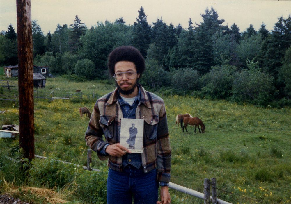 Clarke, aged 20, at Three Mile Plains, NS, 1980.