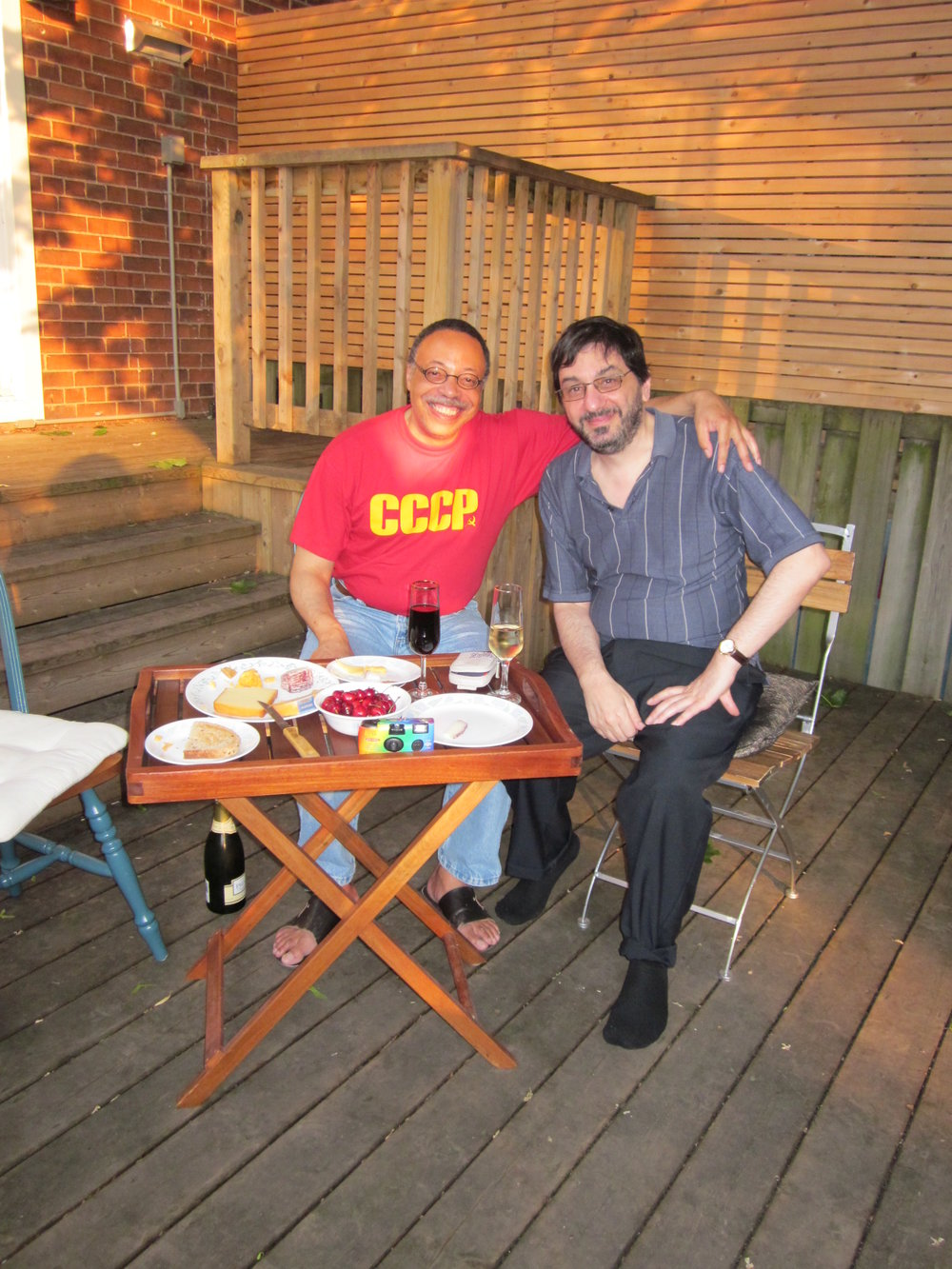 With poet Paul Zemokhol, Toronto (ON), June 2012