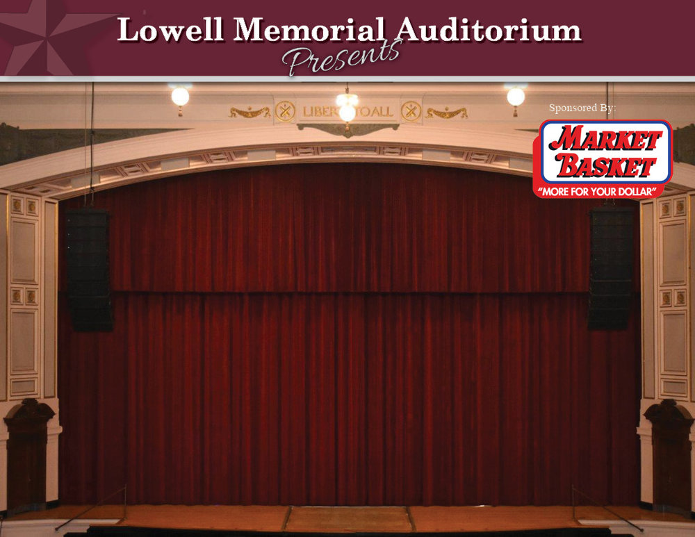 "Stage Photo Scene$10,000 - Artwork can be adjusted to better suit needs.Market Basket logo appearing on 11' 7"" by 8' backdrop"