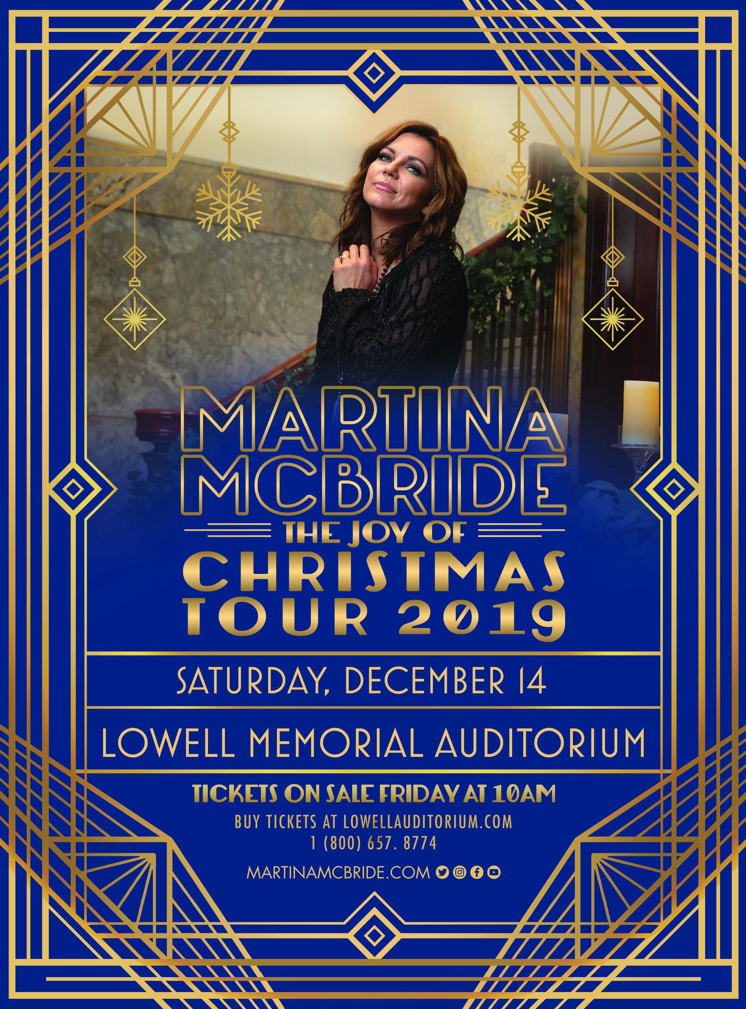 Martina Mcbride: The Joy Of Christmas 2020, December 7 Martina McBride: The Joy of Christmas 2019 — Lowell Memorial
