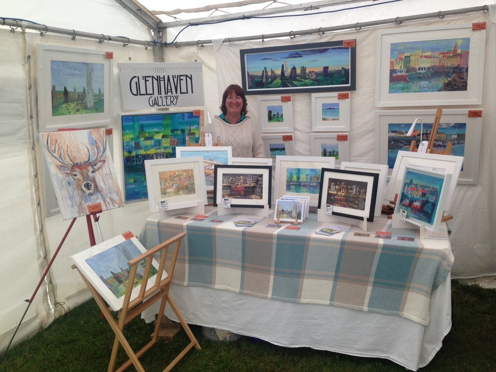 - JUST BACK FROM THE HEBCELT FESTIVALA wonderful weekend in Stornoway! It was a challenge hanging paintings in a windy marquee on a slope, but well worth the effort to receive such lovely appreciative feedback. What an atmosphere … painting outdoors, surrounded by music, people of all ages, and the circus!