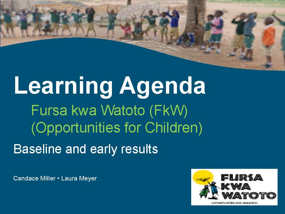 Learning Agenda Baseline and Early Results