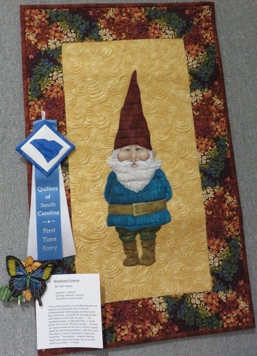 """Woodland Gnome"" sewn by Patti Hayes"