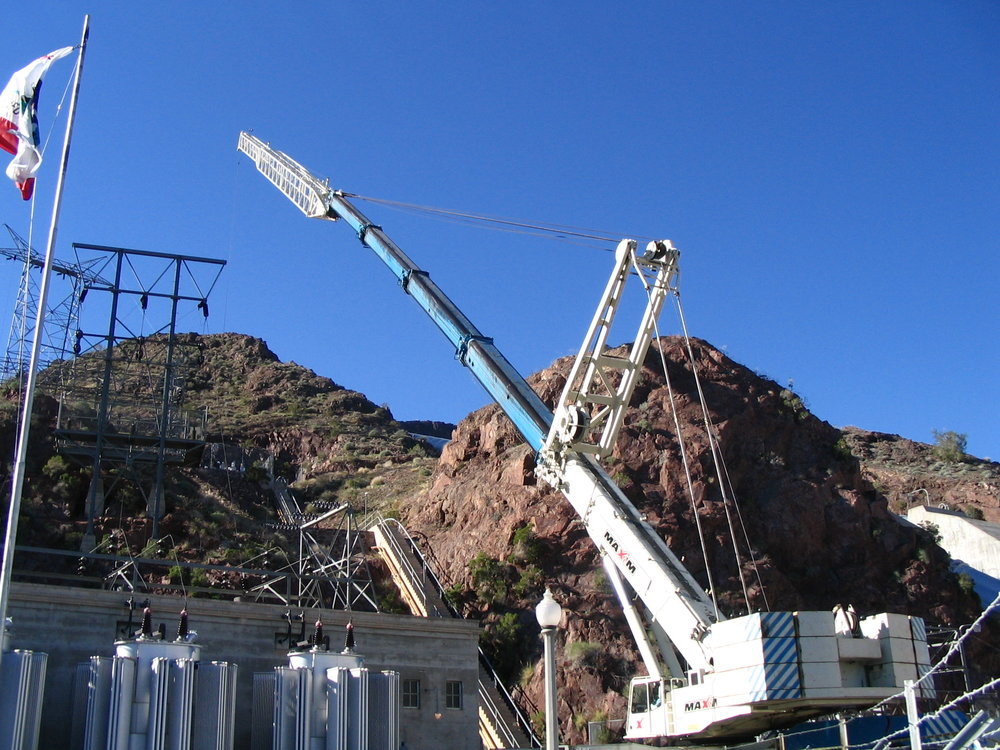 Crane Rigging and Removal of 69kV Oil Breakers