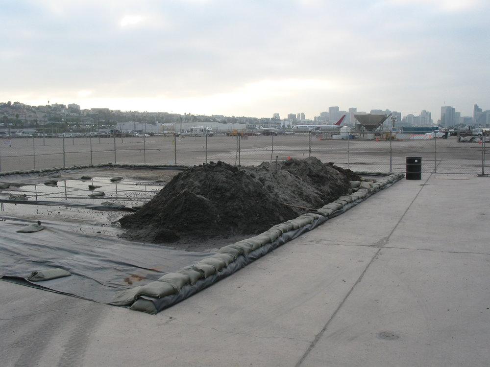Stock piled contaminates