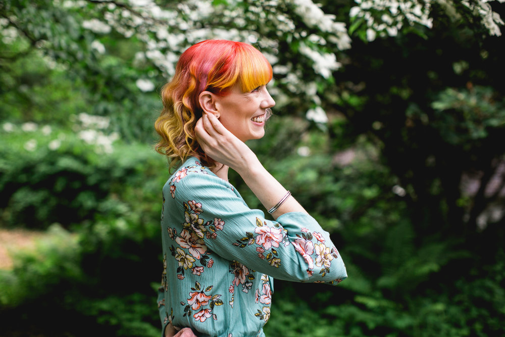 Unicorn hair color at Maynard salon Hair in Harmony