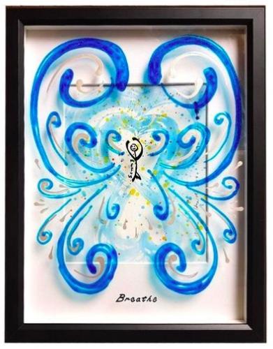 Jason Goldsmith:     Peintures sur verre faits par le fils de Jason, Ellis, qui vit avec l'autisme. /  3D glass paintings inspired by Jason's son Ellis who lives with autism.   5526 Sherbrooke