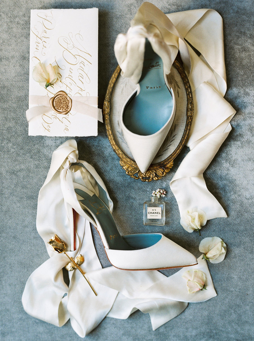 Christian Louboutin wedding shoes flatlay styling East Made Event Company.jpg