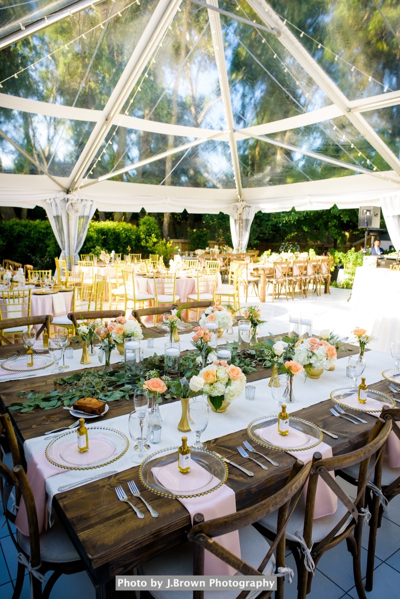 Backyard Clear Tented Wedding | Gold + Blush Persian Wedding34.JPG