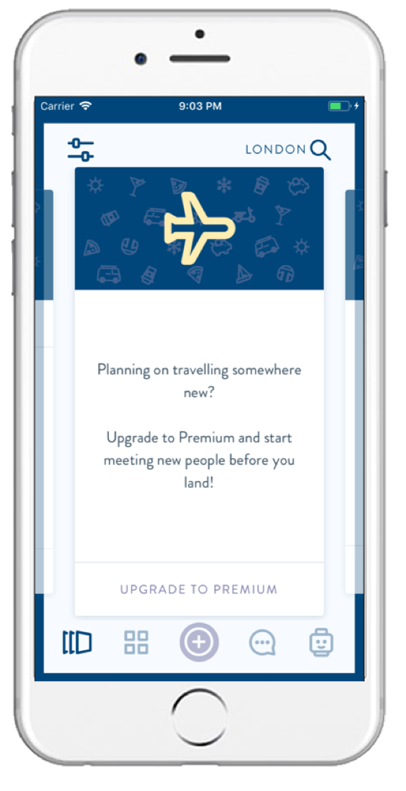 Plan Ahead - Want to make plans before you travel?Upgrade to our monthly Premium subscription to swipe and create cards in any location