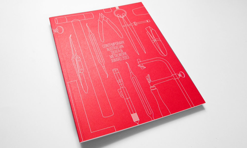 Contemporary Australian Silver & Metalwork Award 2013  exhibition branding and catalogue.  view case study