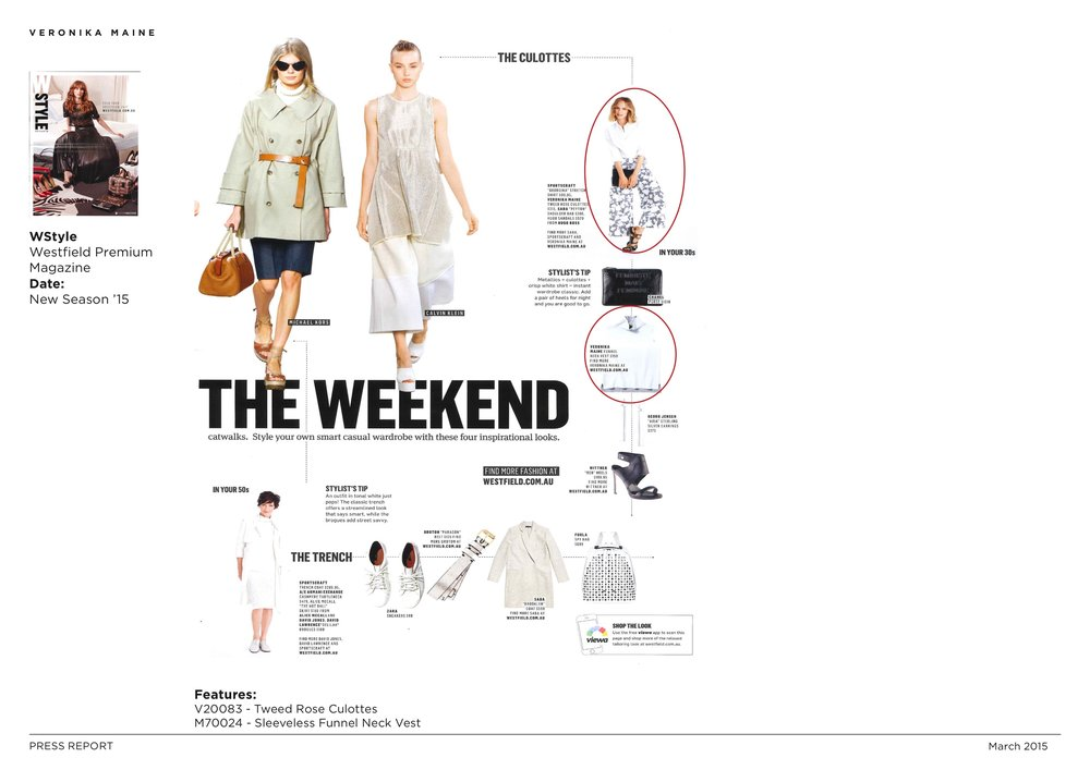 Veronika Maine AW15 Press Coverage - Westfield WStyle - New Season '15.jpeg