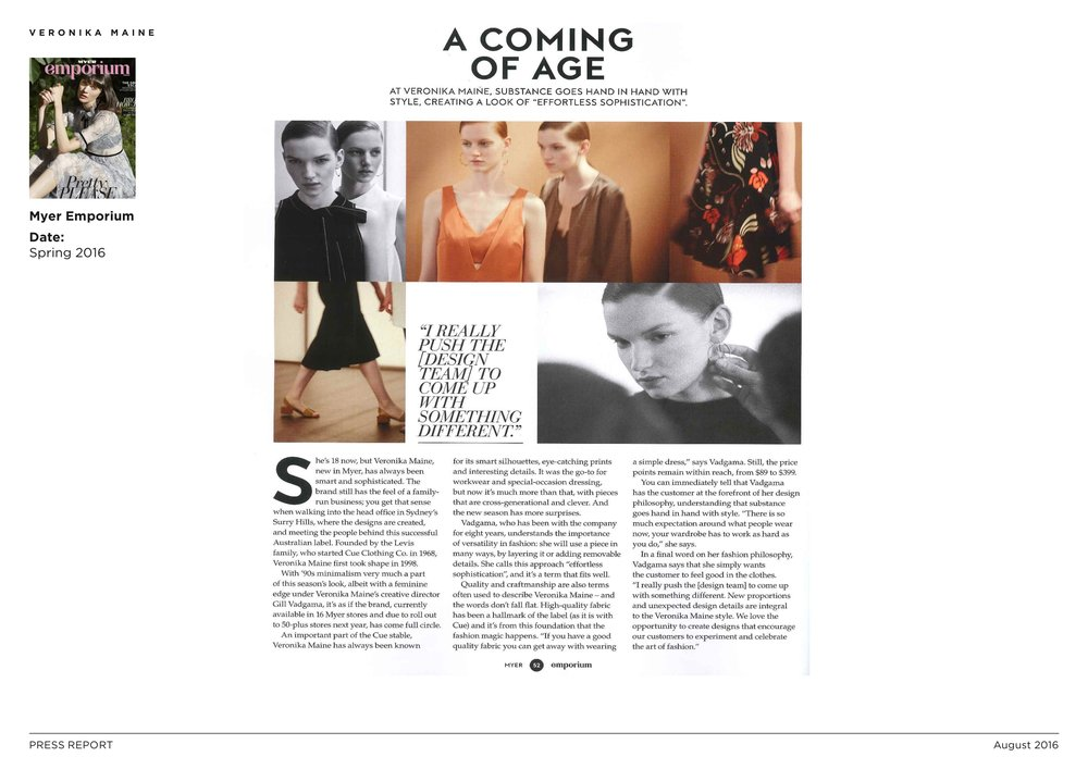 Veronika Maine S16 Press Coverage - Myer Emporium - Spring 2016 3.jpeg