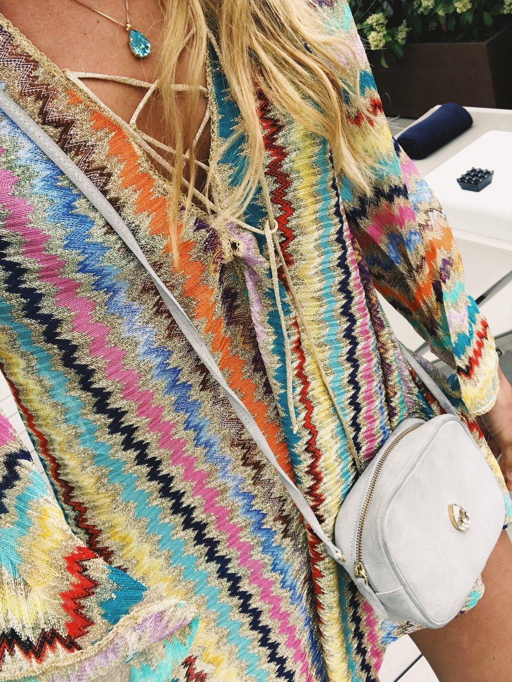 Missoni är ren lycka i klädväg som alltid inspirerar med färg och mönster. Väskan kommer snart till butik..