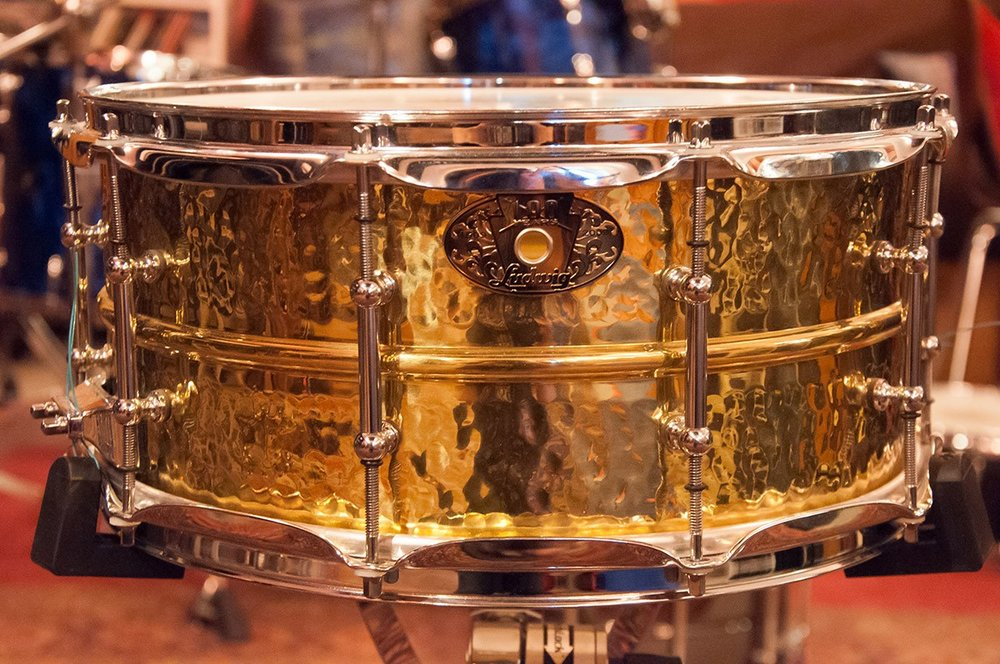 Ludwig 6 1/2 x 14 Hammered Brass Shell