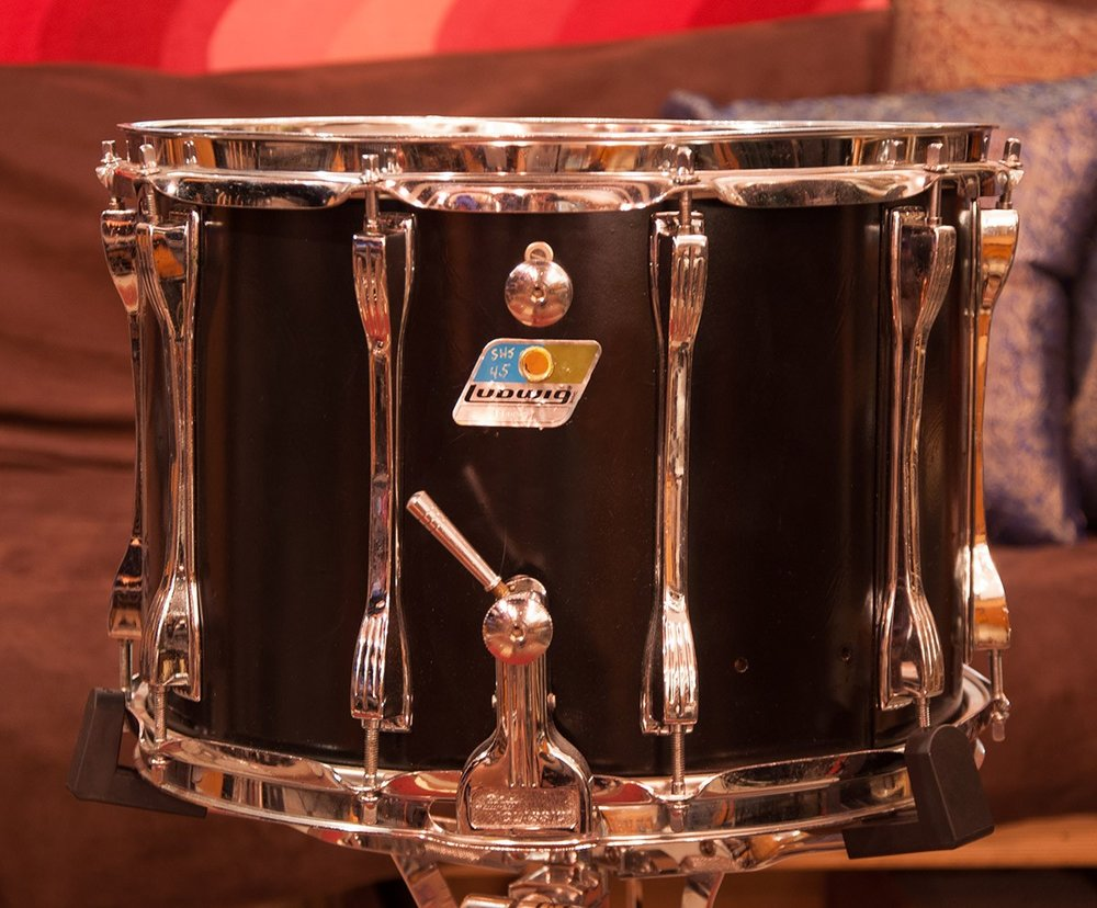 Ludwig 9 1/2 x 14 Marching Snare Black
