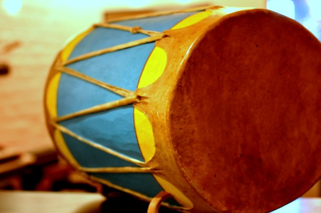 Arnold Herrera Cochiti Native American Drum