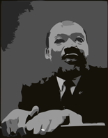 Martin Luther King Jr. at Pulpit. - by algotruneman at openclipart.org public domain no rights reserved.The Author cites this work as a remix of an original photo in the Libraryof Congress, by Marion S. Trikosko.Cropped, remixed by Deborah Hartmann Preuss.