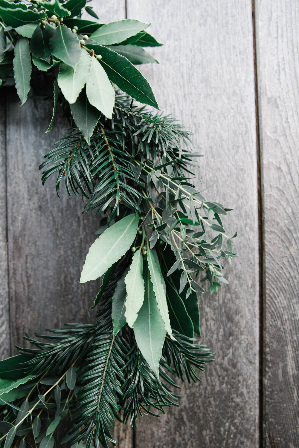 DIY foraged Christmas wreath