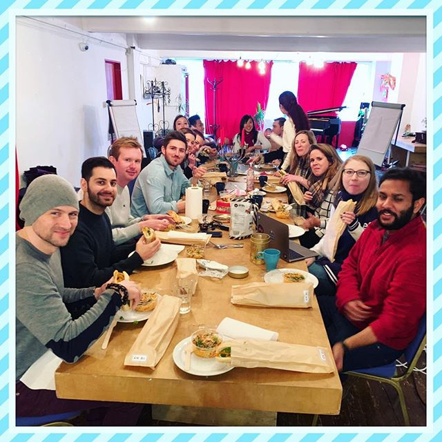 Last week's corporate lunch catering for a cool team from Entrepreneur First 😎 So many happy faces munching away! 🌯 If you are interested in placing an order then drop us a DM or email us via our website (🔗in bio) • #andikitchen #vietnamese #streetfood #foodmarkets #london #foodvan #foodtruck #catering #vietfood #corporatecatering #banhmi