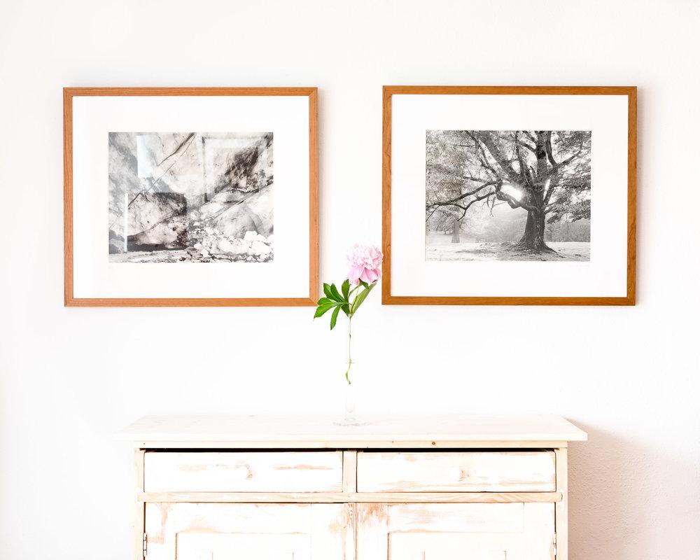 Fine Art Prints in weißem Passepartout 60 x 70 cm und Massivholzrahmen