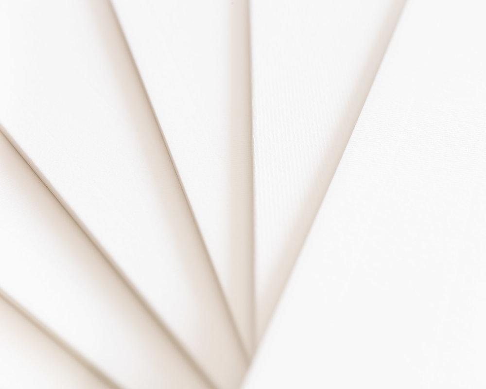 Strukturierte Passepartout-Oberfläche