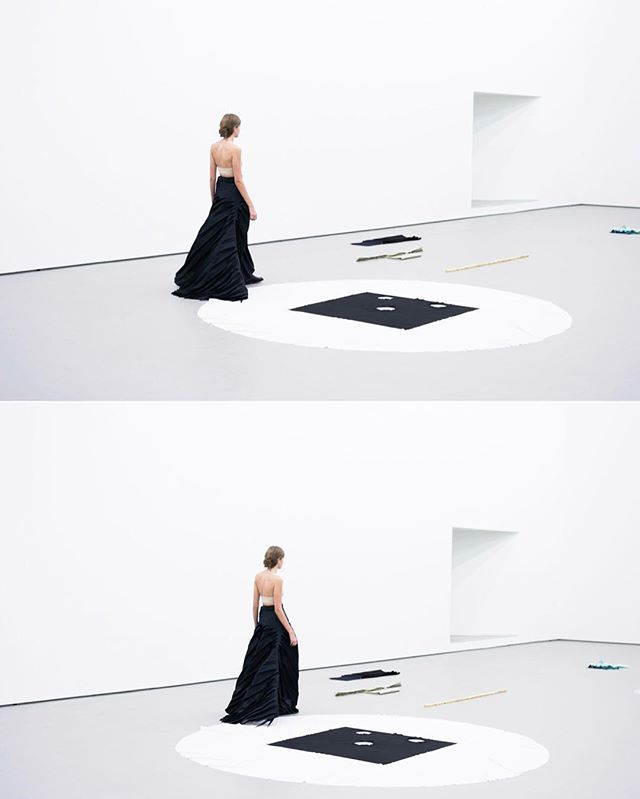 "SS - womenswear - collection 2014 ""4 - D  A Tribute to Franz Erhard Walther "". styling JODIE BARNES , #photography: Jonas Lindstroem  #performance #berlin #gallery Juerg Judin  #fashion #womenswear #collection"