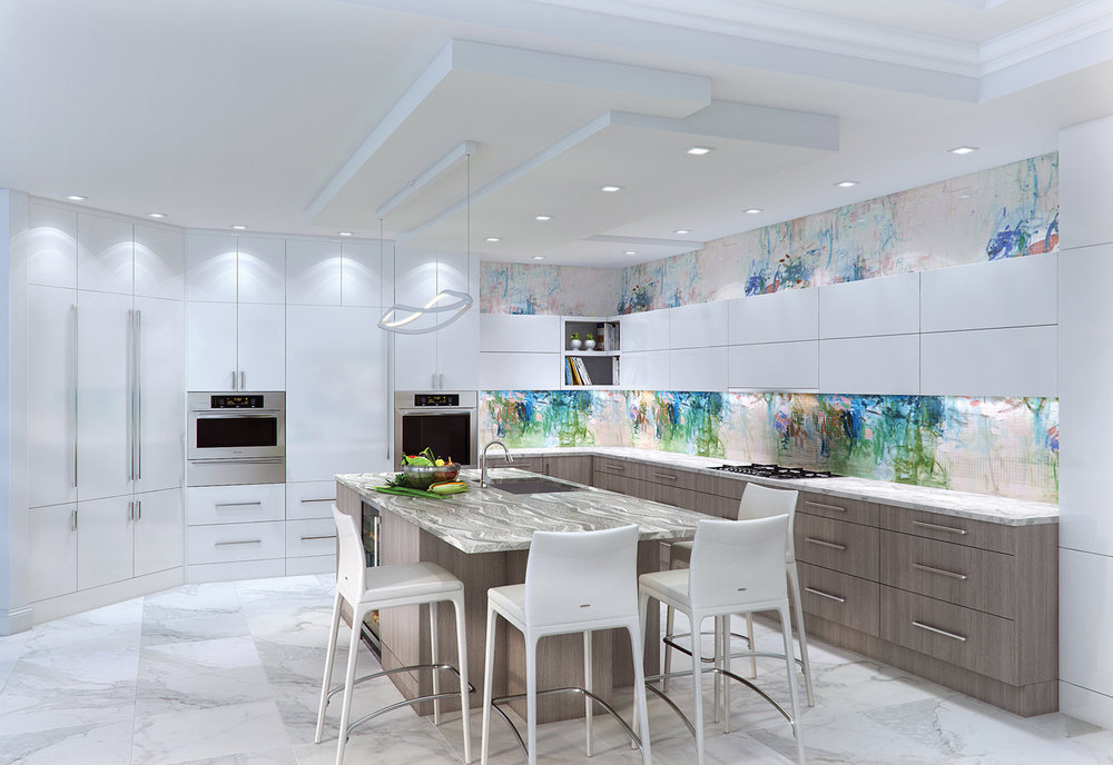 Kitchens have become a work of art unto themselves. Now a prominent space in the home, they need the same care and attention any other room would get. This is now the space you live and entertain in so add unique items like colorful stone backsplashes or fun counters.