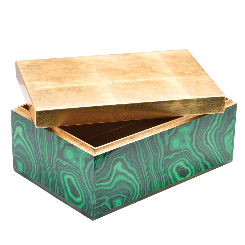 Items like this jade and gold malachite box are the perfect way to add color. While traveling, look for unique design items that can be added to your decor so you can bring your adventures back with you.