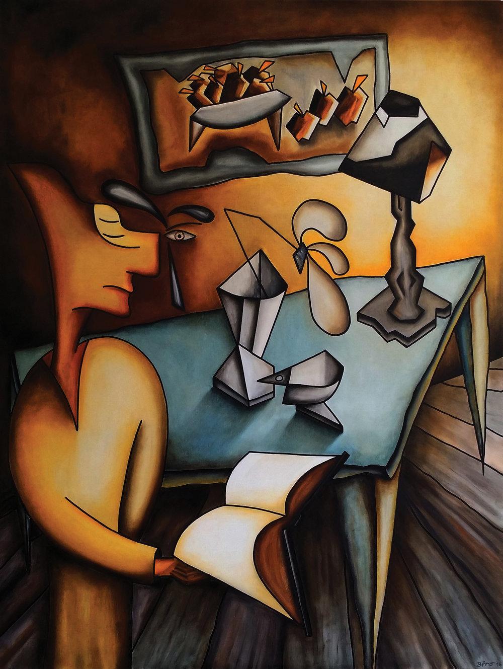 La Connaissance , 59'' by 78'' by Alain Beraud